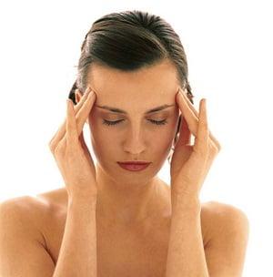 Массаж висков при головной боли